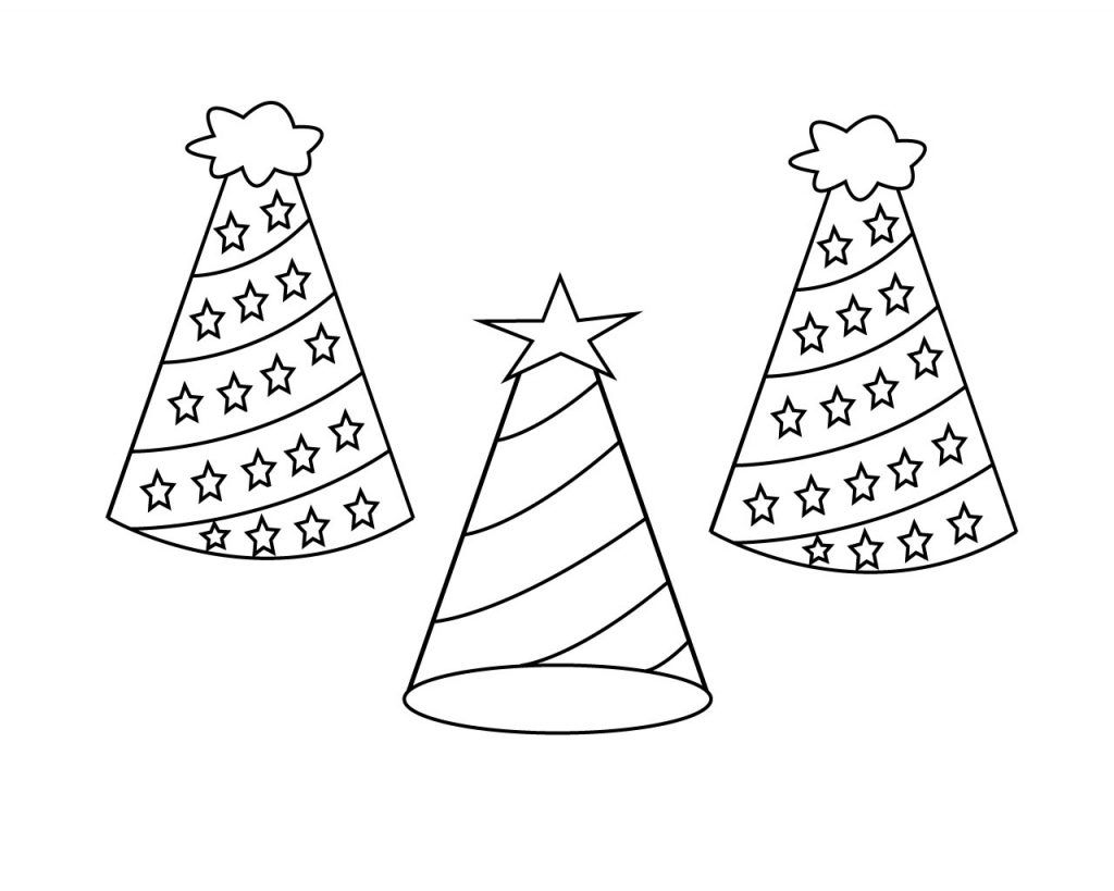 Hat Coloring Page To Print With Images Coloring Pages To Print