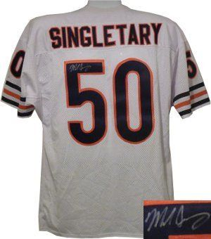 "Mike Singletary signed Chicago Bears White Prostyle Jersey . $261.63. Mike Singletary spent his entire playing career as a linebacker for the Chicago Bears after starring in college at Baylor University. After playing with the Baylor Bears, Singletary was drafted by the Chicago Bears in the 2nd round of the 1981 NFL Draft and was known as ""The Heart of the Defense"" for the Chicago Bears' Monsters of the Midway in the mid-1980s. His nickname was Samurai Mike. He was ind..."