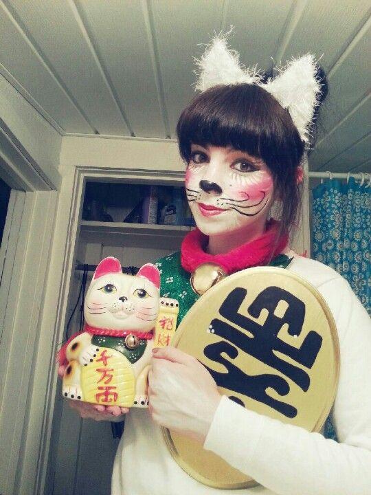 Maneki Neko My Chinese Lucky Cat Halloween costume.  sc 1 st  Pinterest & Maneki Neko My Chinese Lucky Cat Halloween costume. | Halloween ...