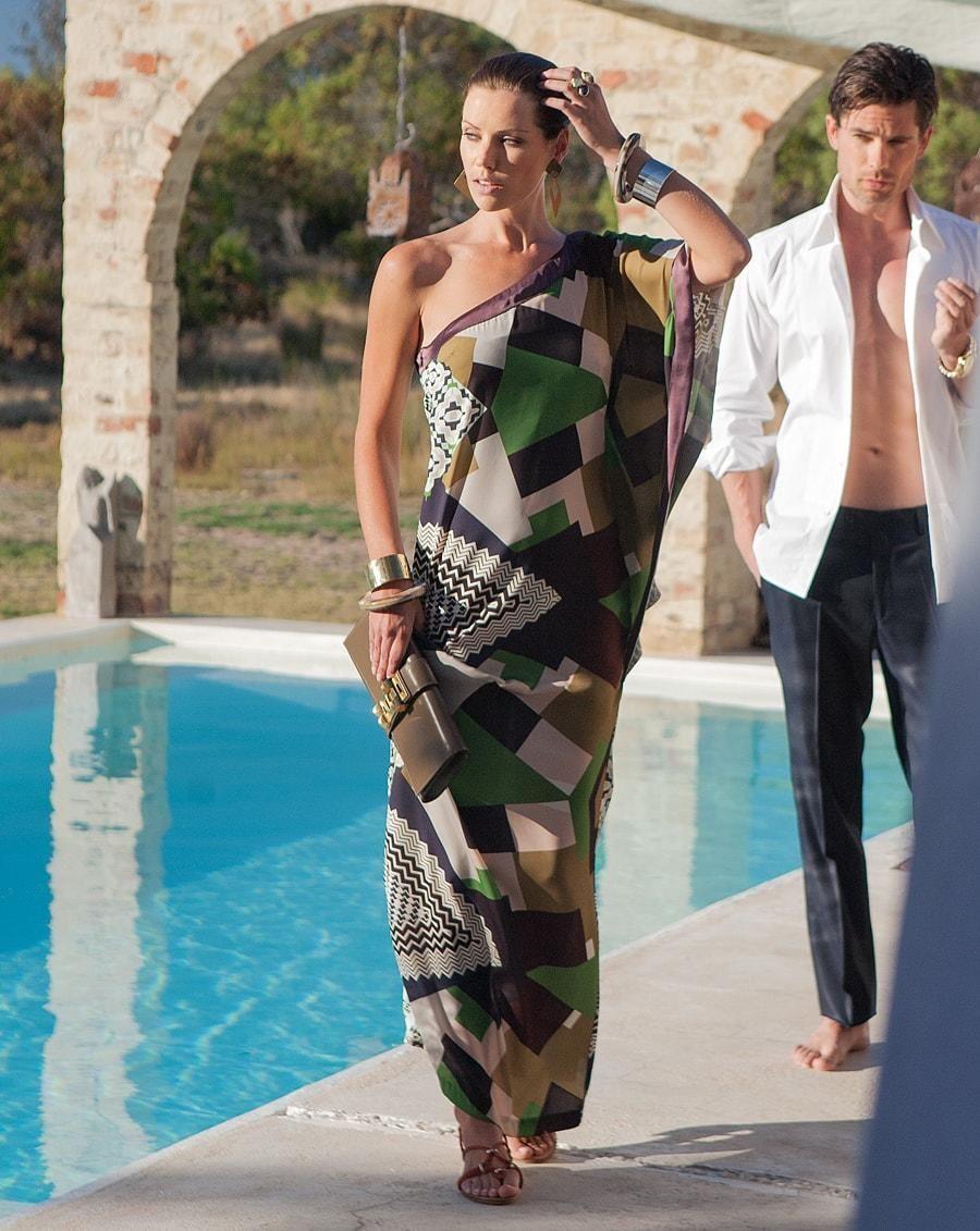 burda style, Schnittmuster, One-Shoulder-Kleid 06/2013 #106 ...