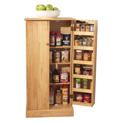 "Food Storage Cabinet With Doors Found It At Wayfair  Lisa 42"" Kitchen Pantry  New Home  Pinterest"