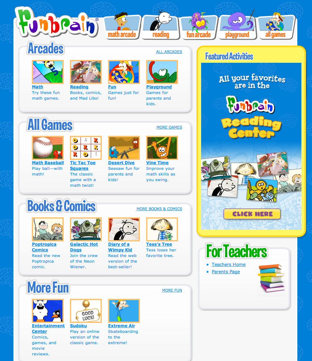 Fun Brain! FREE online Reading, Math and Brain Games!   Apps and ...