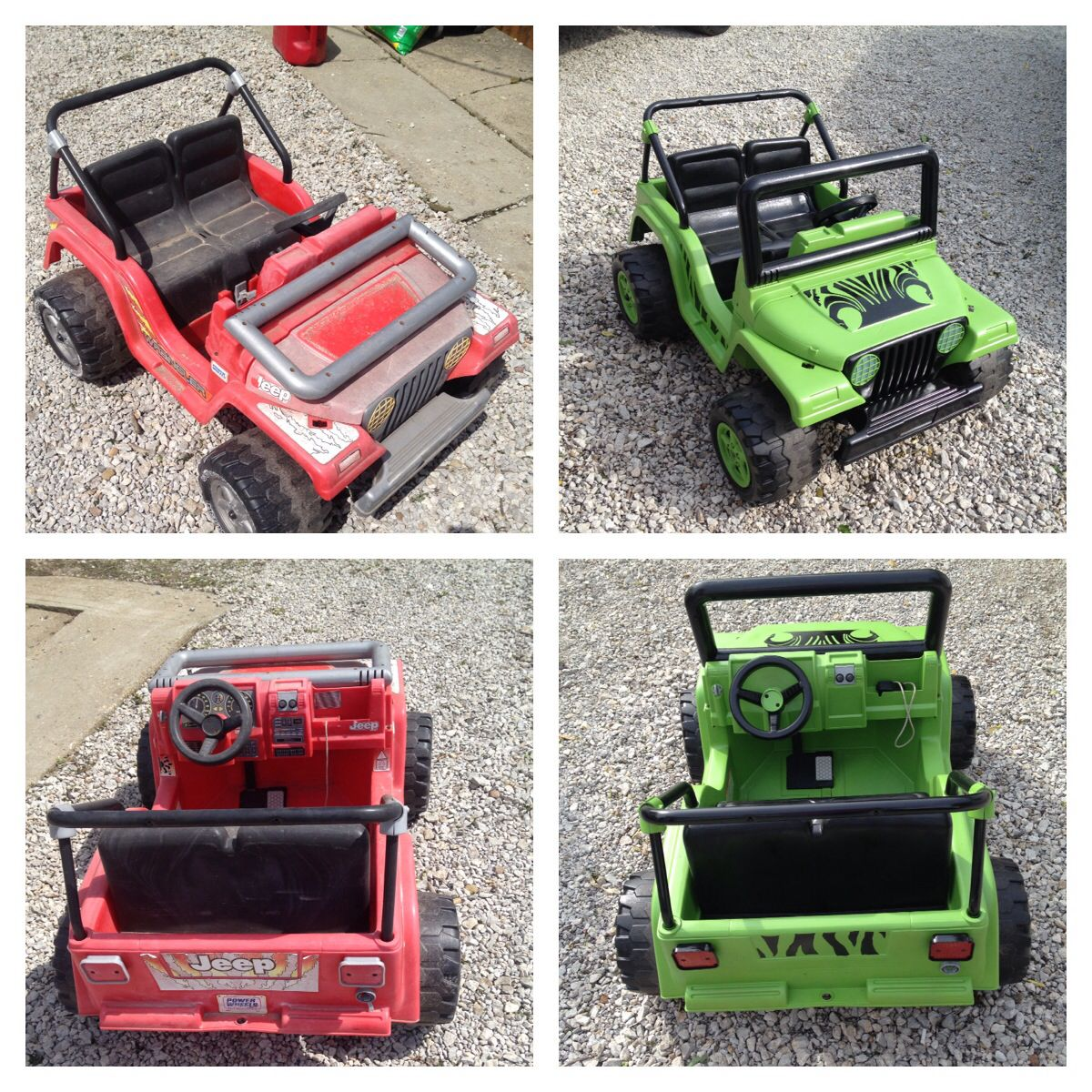 This Is A Power Wheels Jeep I Revived For My Nephews By Sanding It Ride On Down And Putting Custom Paint Job