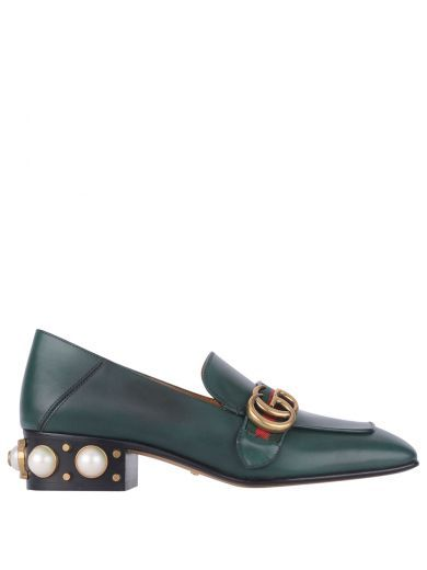 48fa764d598a GUCCI Gucci Moccasin With Pearls On The Heel. #gucci #shoes  #gucci-moccasin-pearls-heel