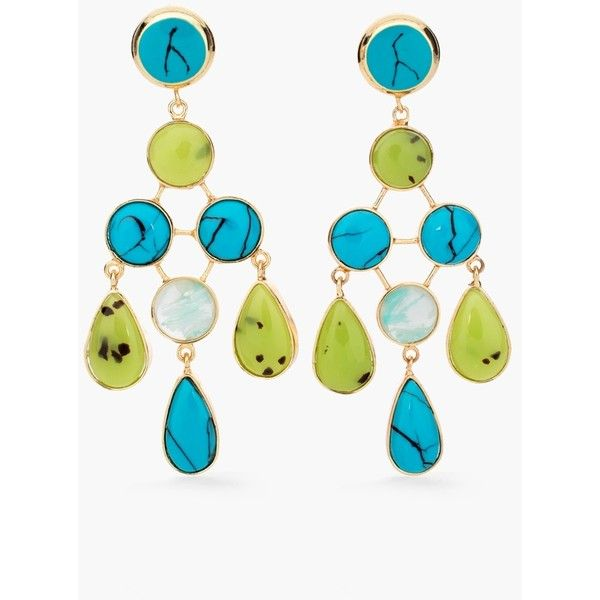 Chico's Hilary Earrings ($18) ❤ liked on Polyvore featuring jewelry, earrings, blue multi, multicolor earrings, fake earrings, multi color jewelry, artificial jewellery and fake jewelry