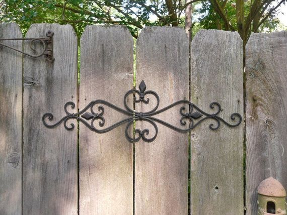 Black Wall Decor / Wrought Iron / Ornate Wall Decor