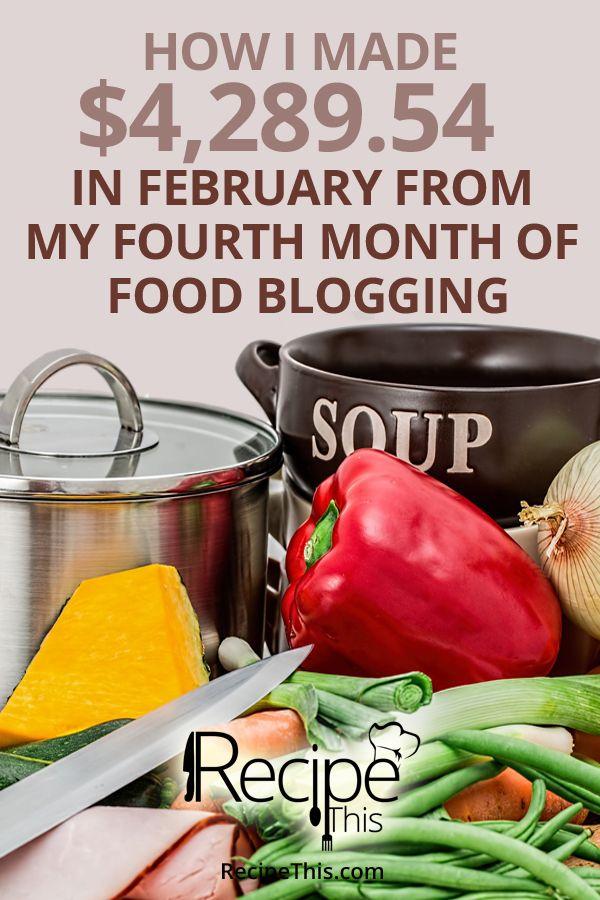 Food Blogging | Food Blogging Income Report February 2016