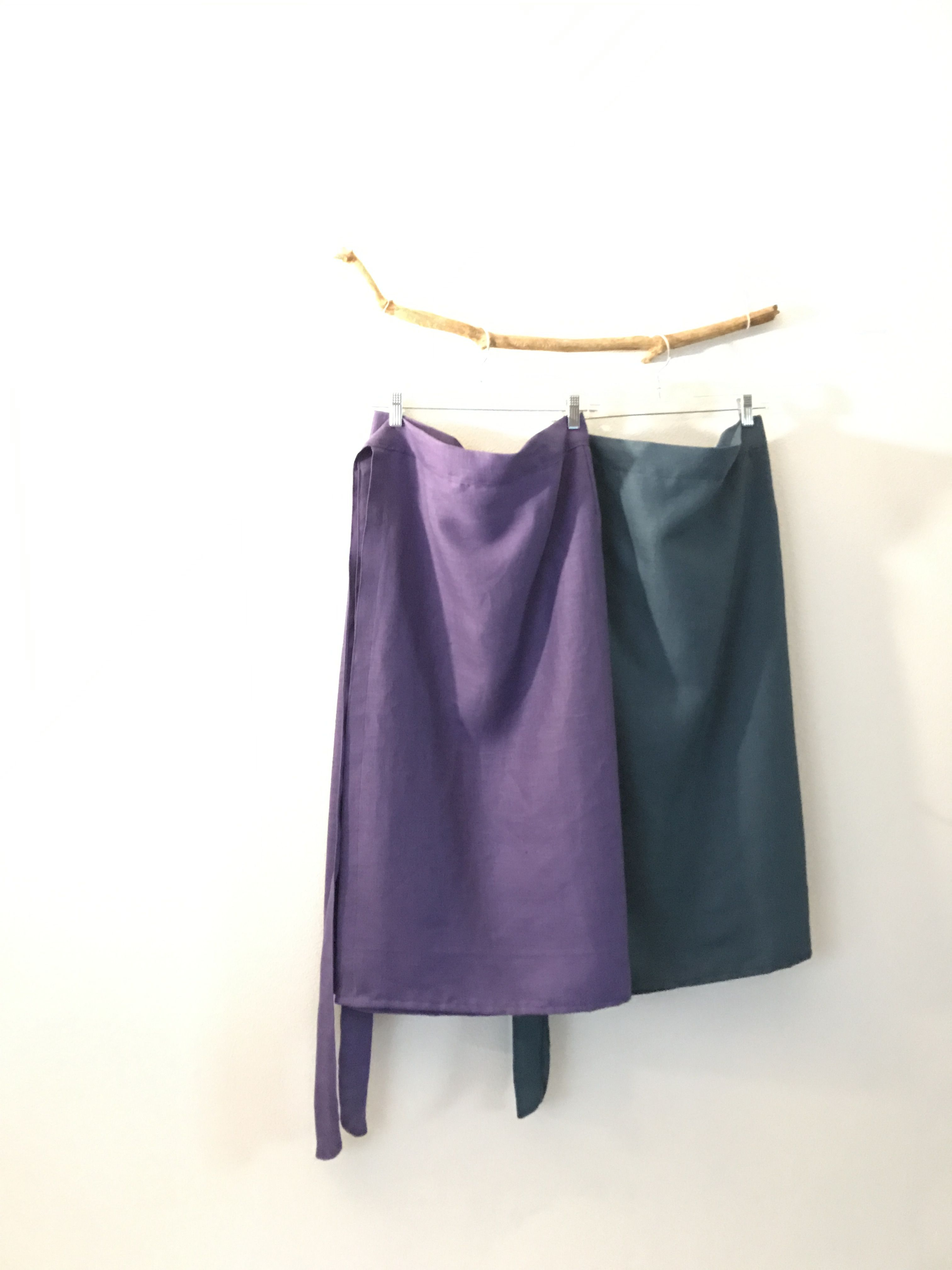 Linen Wrap Skirts Custom Length