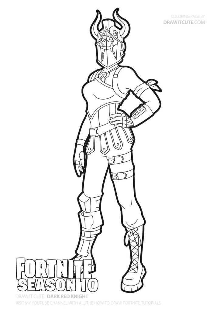 Fortnite Christmas Skins Coloring Pages