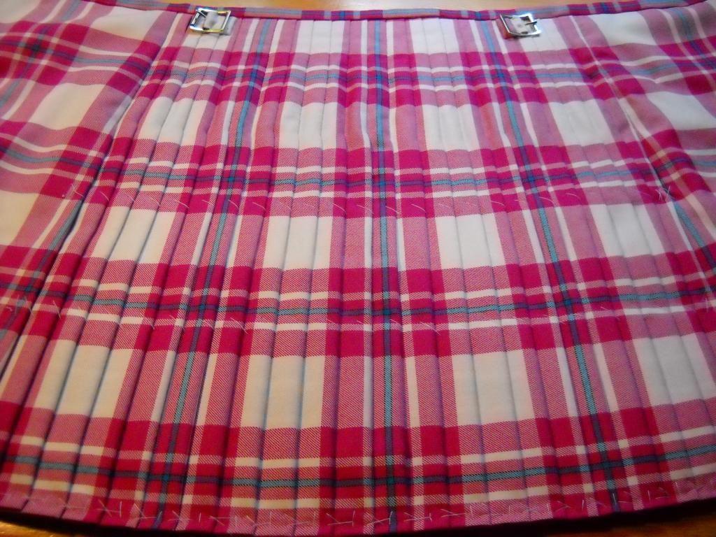 Kilt in progress #macgregor #pink #tartan   MacGregor, Dress ...