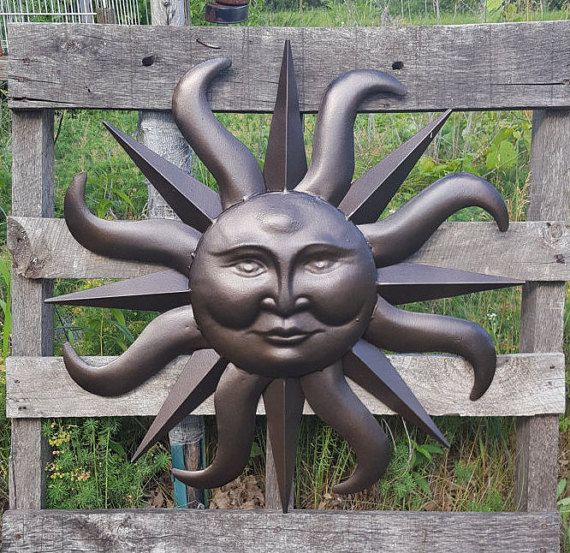 Metal Garden Decor Metal Sun Wall Art Outdoor By Pinkelephants03