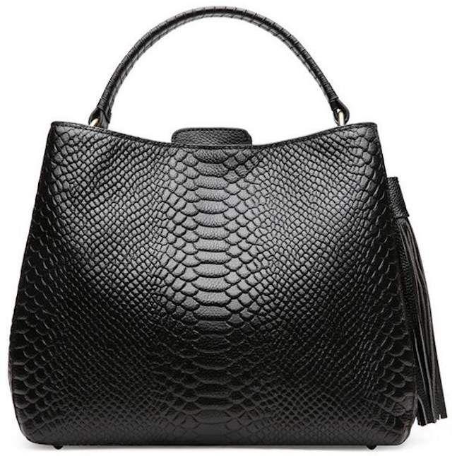 Weidu Crocodile Handbags For Women On Sale Clearance Designer Genuine Leather Handbags Black
