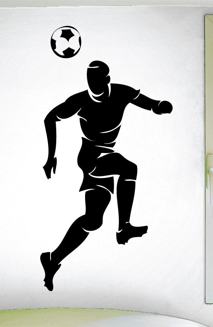 Boys Soccer Heading Ball Wall Decal 0295 Soccer Theme Decal Sports Decal Head Futbol Futebol Arte Futebol Esportes