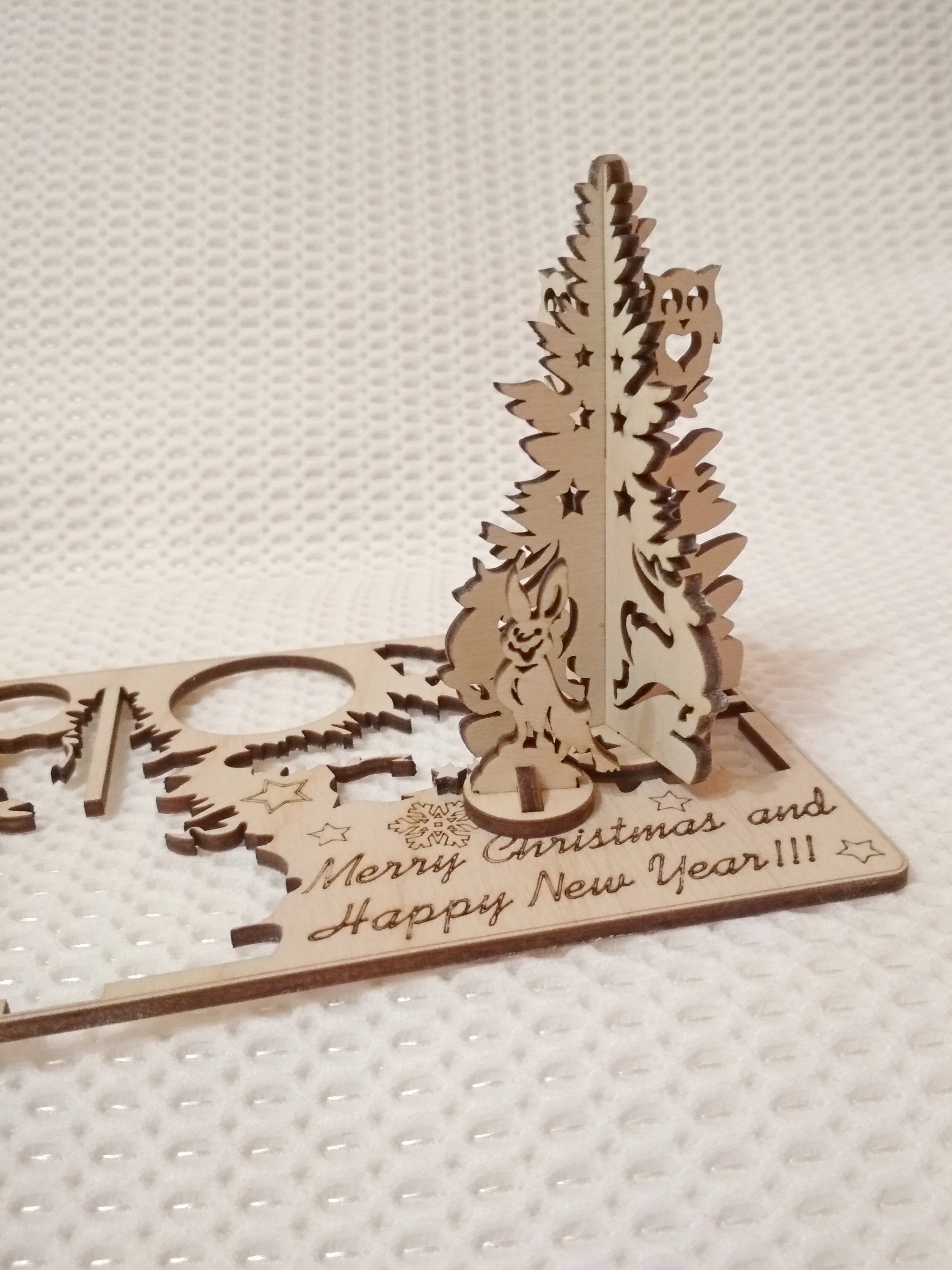 Christmas Gift Cards Vector Dxf Pattern Files Laser Or Cnc Etsy Christmas Gift Card Personalised Gifts Handmade Teacher Gift Card