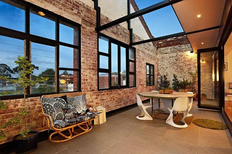 einrichtungstipps im industriellen stil der robuste natrliche look ist ein erwnschter effekt in diesem sinne sind alte backsteinwnde sehr geschtzt - Industriellen Stil Wohnzimmer