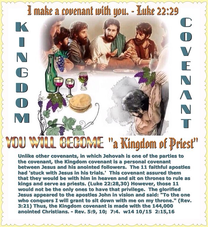 """YOU WILL BECOME """"a Kingdom of Priests"""": I make a covenant with you. - Luke 22:29."""