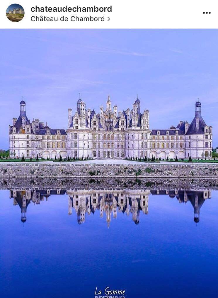 Magnifique photo de Chambord par @la_gomme !  || Wonderful photo of Chambord by @la_gomme !