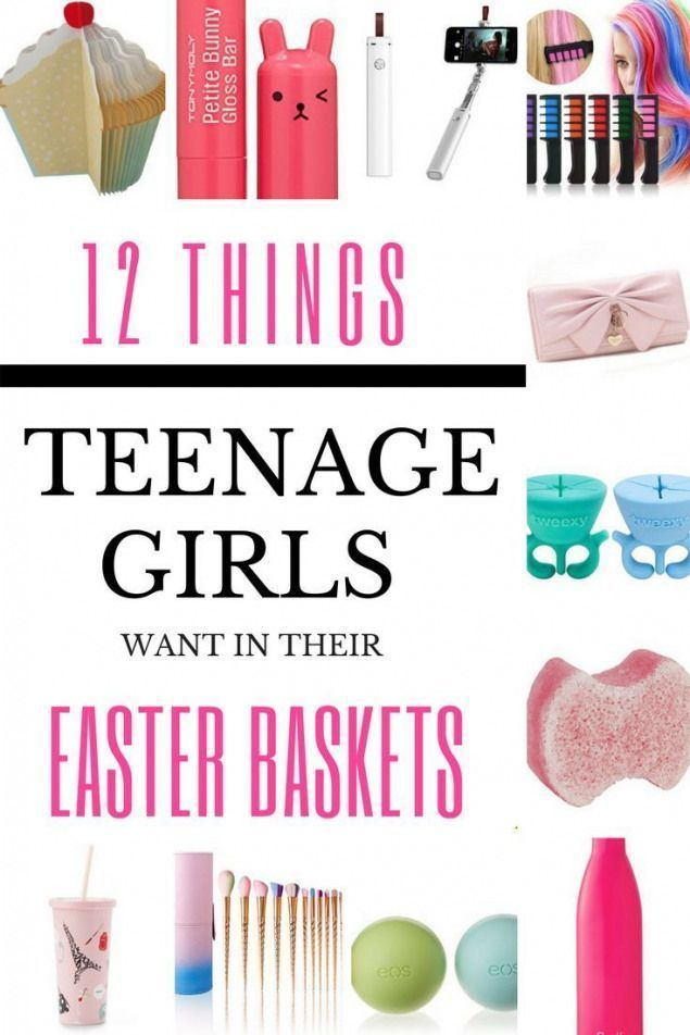 Looking for Easter basket ideas for teen and tween girls? Heres 12 awesome no ca…