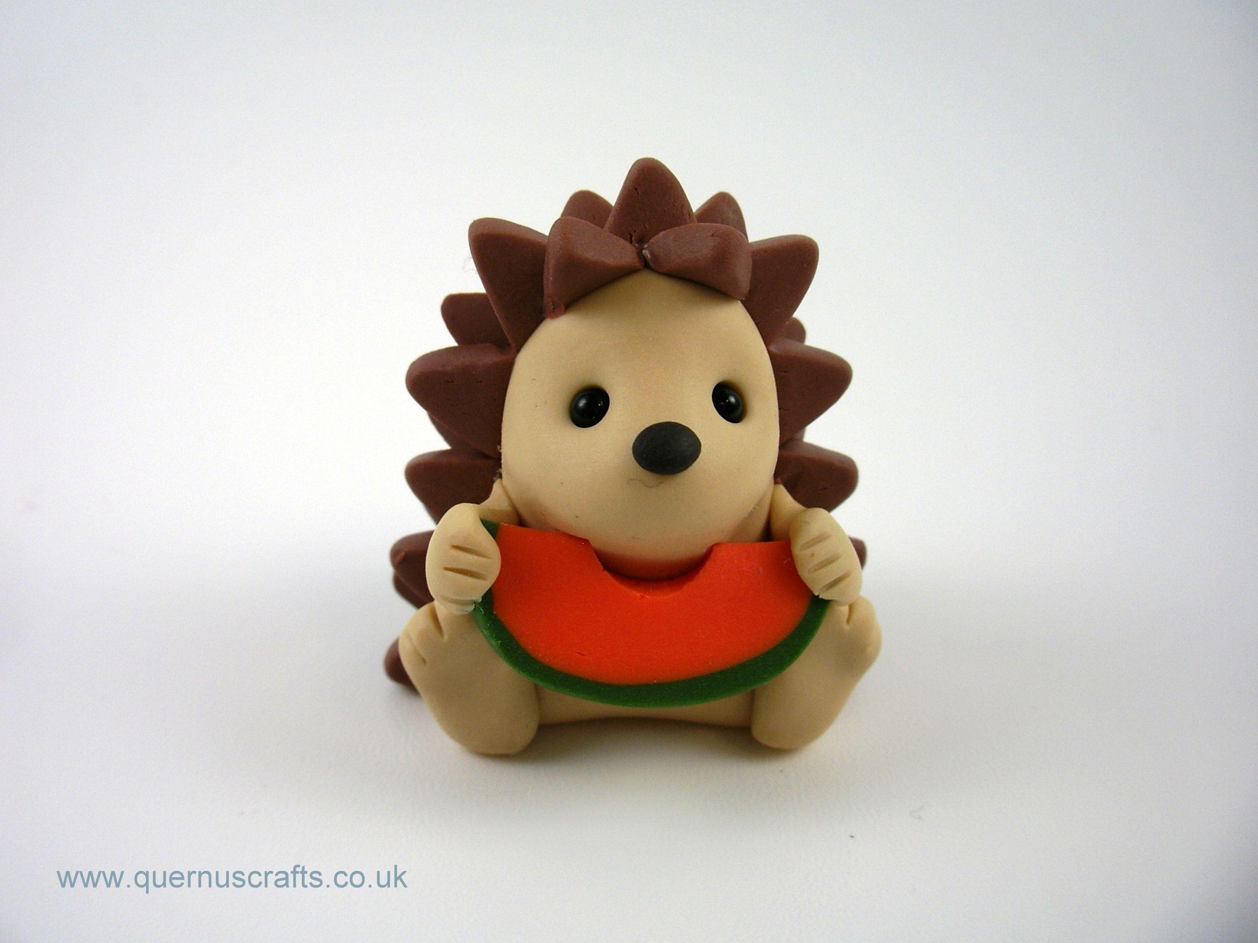 Little Melon Hedgehog Clay crafts air dry, Polymer clay