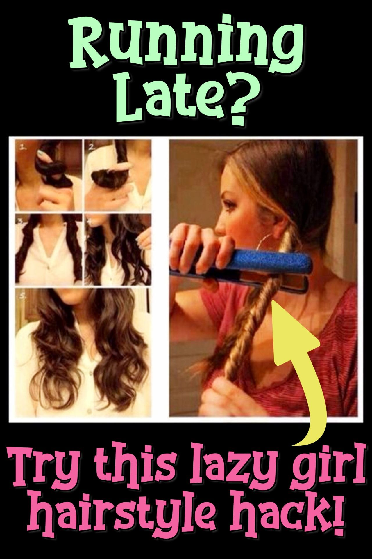 10 Easy Lazy Girl Hairstyle Ideas Step By Step Video Tutorials For Lazy Day Running Late Quick Hairstyles Clever Diy Ideas Lazy Girl Hairstyles Lazy Hairstyles Easy Everyday Hairstyles