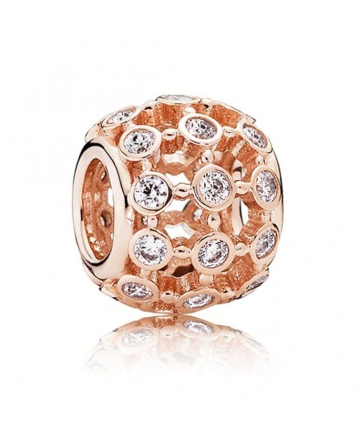 Pandora Rose In The Spotlight Charm Uk Rose Gold Charms Pandora Jewelry Beaded Necklace Diy