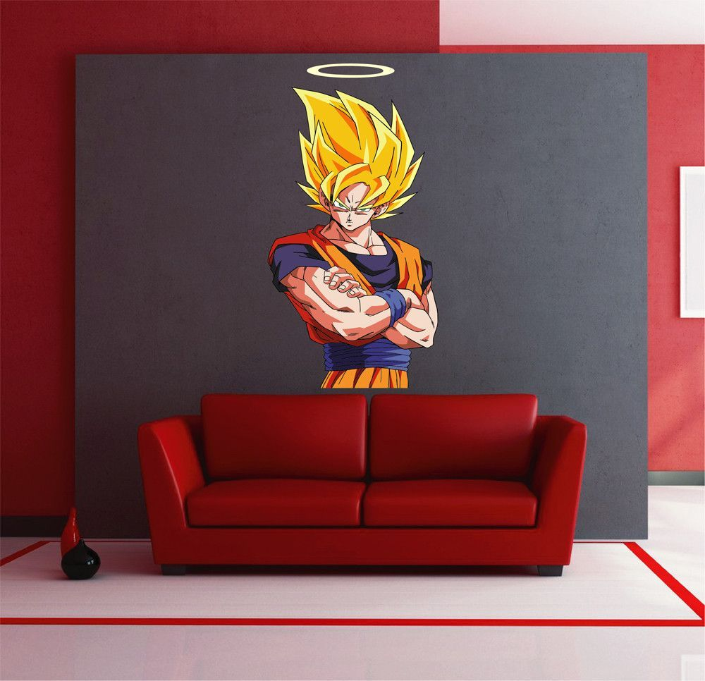 Cik1564 full color wall decal dragon ball z anime characters cik1564 full color wall decal dragon ball z anime characters childrens bedroom amipublicfo Images