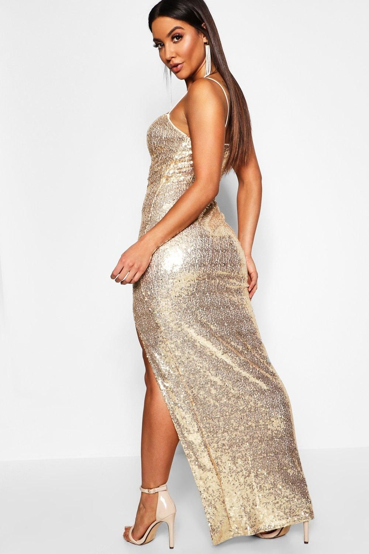 Lyst - Missguided Grey Square Neck Side Split Mini Dress
