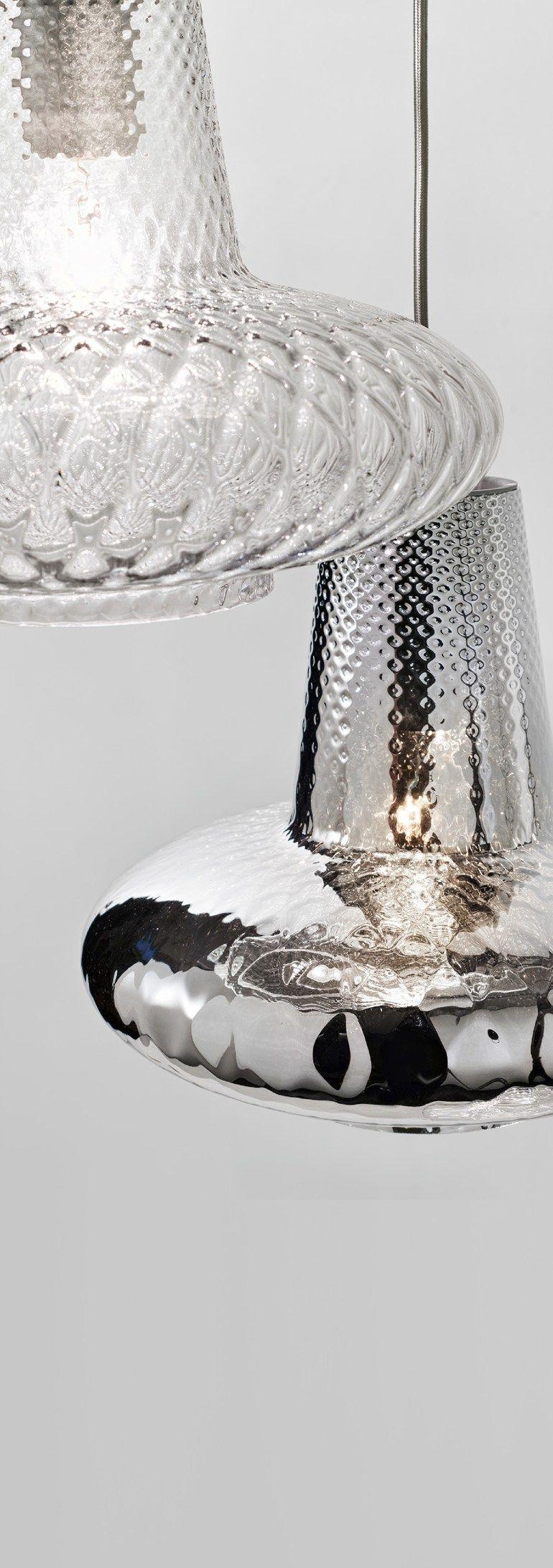 Blown glass pendant lamp ROMEO E GIULIETTA by Zafferano