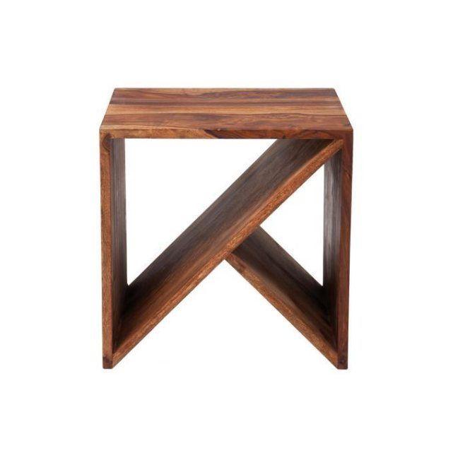 Table Basse Kare Design Cube Zigzag Bois Sheesham Declikdeco Bout De Canape Design Bout De Canape Mobilier De Salon
