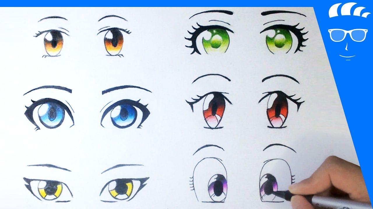 طريقة رسم 6 عيون انمي مانجا للمبتدئين عيون بنات Youtube Anime Eyes Disney Characters Character