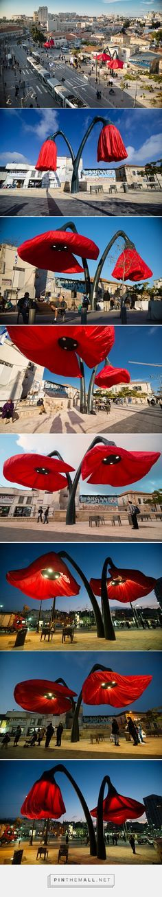 HQ architects installs flowers that react to the environment - created via http://pinthemall.net