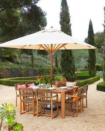 Maya Outdoor Dining Furniture At Neiman Marcus Outdoor Dining Furniture Teak Outdoor Furniture Outdoor Decor