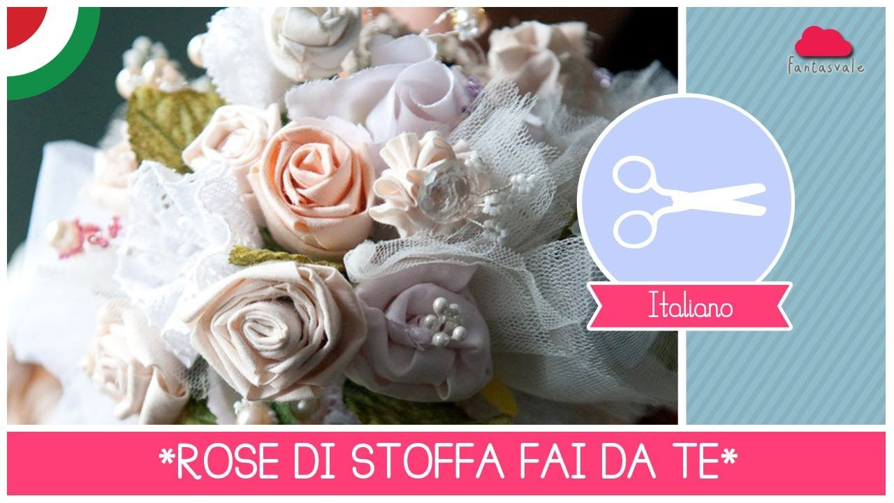 Tutorial Bouquet Sposa.Bouquet Da Sposa Fai Da Te Con Rose Di Stoffa Stile Shabby And