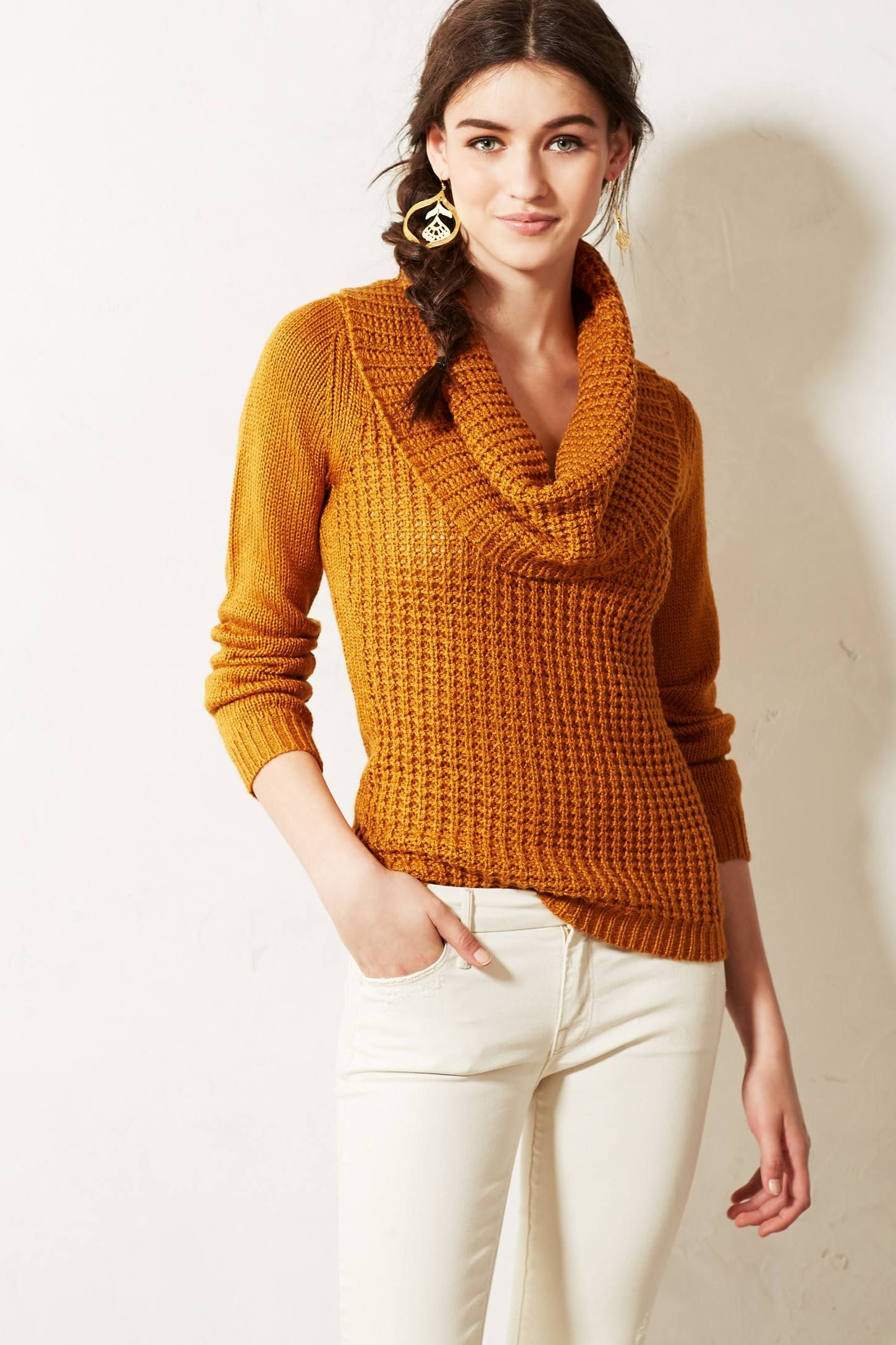 Waffled Cowlneck - anthropologie.com $98.00   my style   Pinterest ...