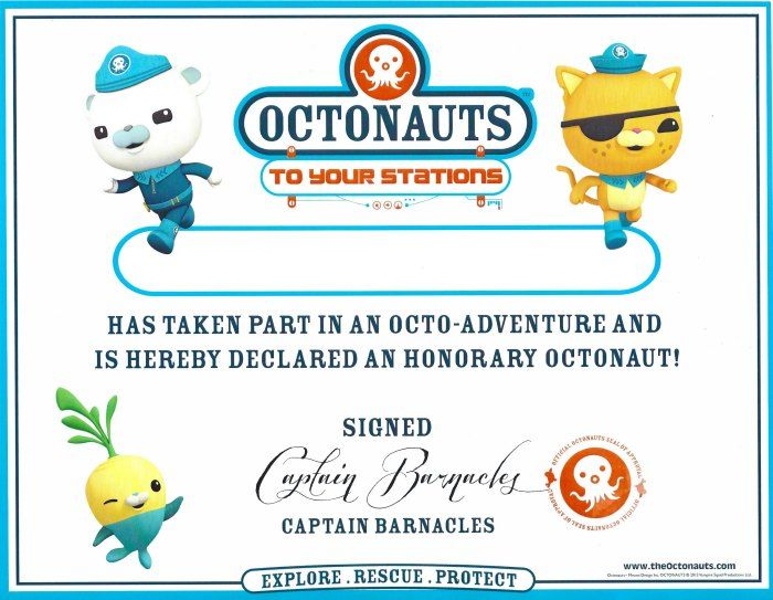 Octonauts Birthday Party Goodie Bag Ideas \ Free Printables - birthday certificate templates free printable