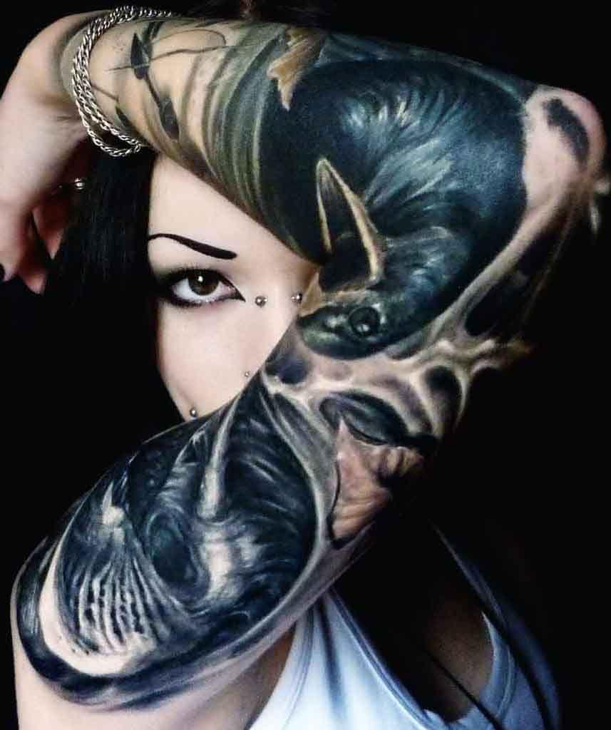 Raven hand tattoo Sleeve tattoos