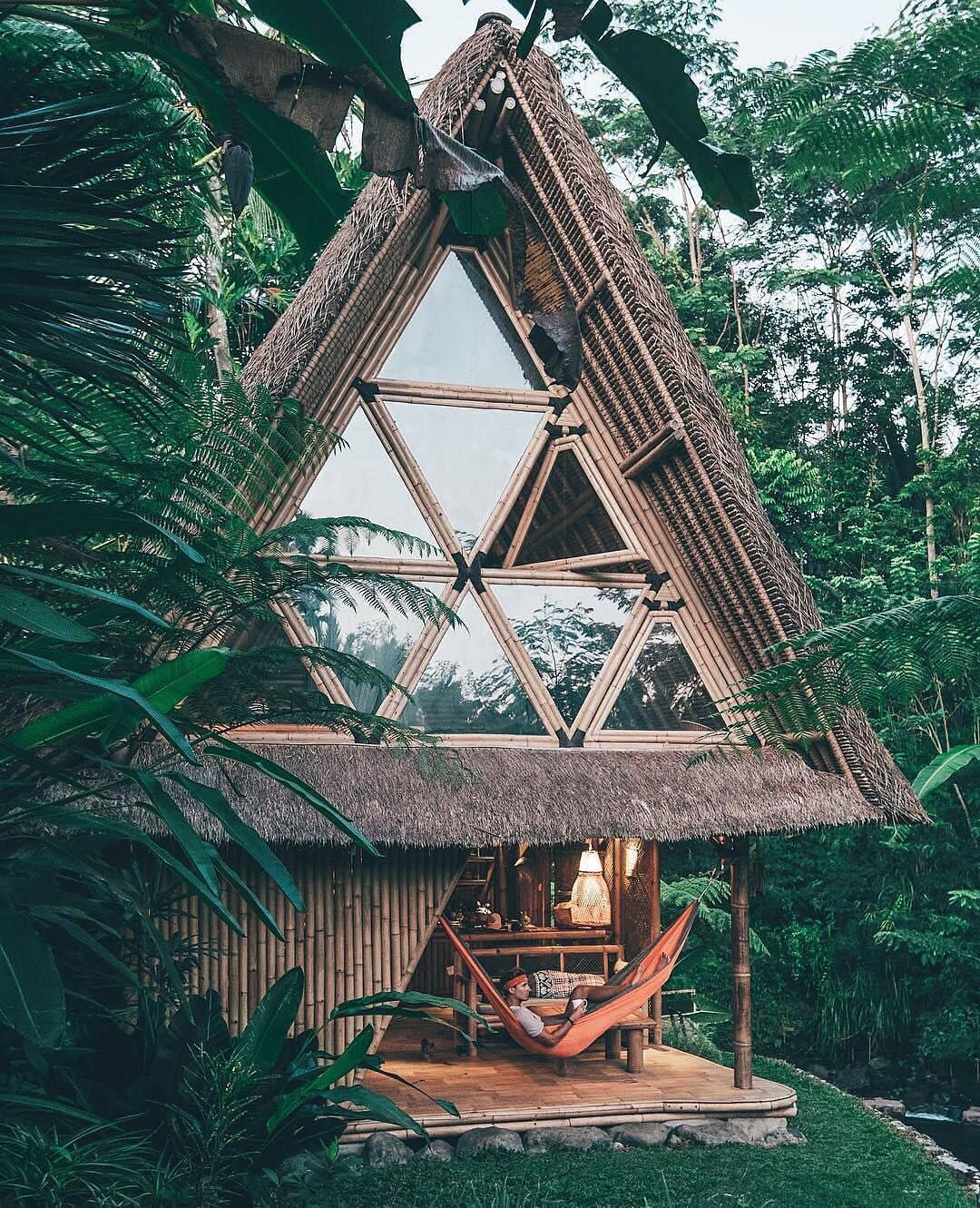 home for the night a bamboo house in bali on let s go house rh pinterest com