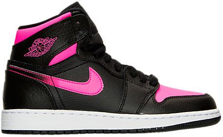 sale retailer 563f2 ce058 Nike Girls  Grade School Air Jordan Retro 1 High (3.5y-9.5y) Basketball  Shoes