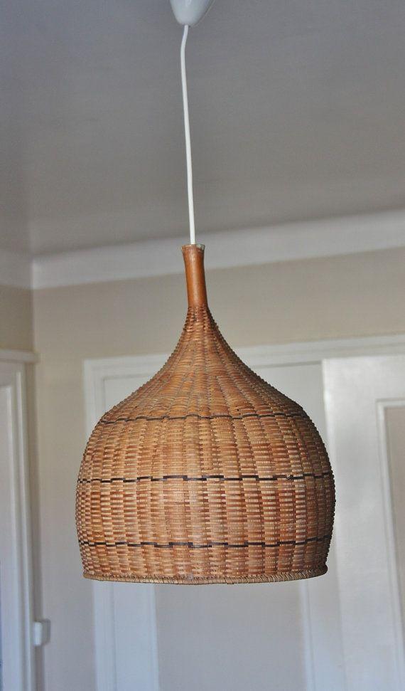 Pendant Lighting Wood Woven Straw Wicker Chandelier