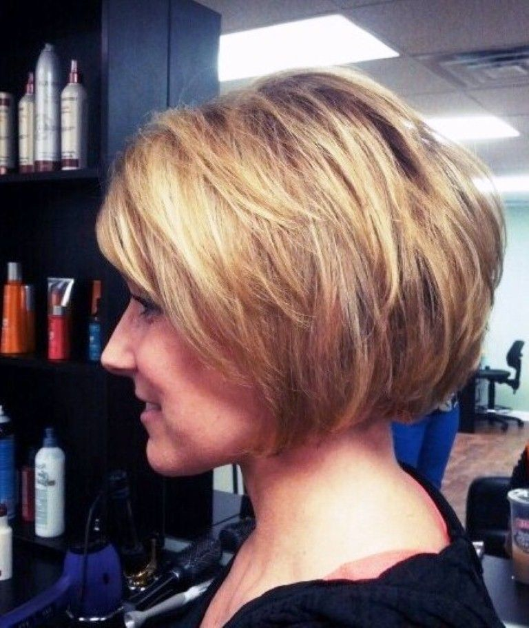 Image Detail For Adding Volume To Short Stacked Bob Hairstyle