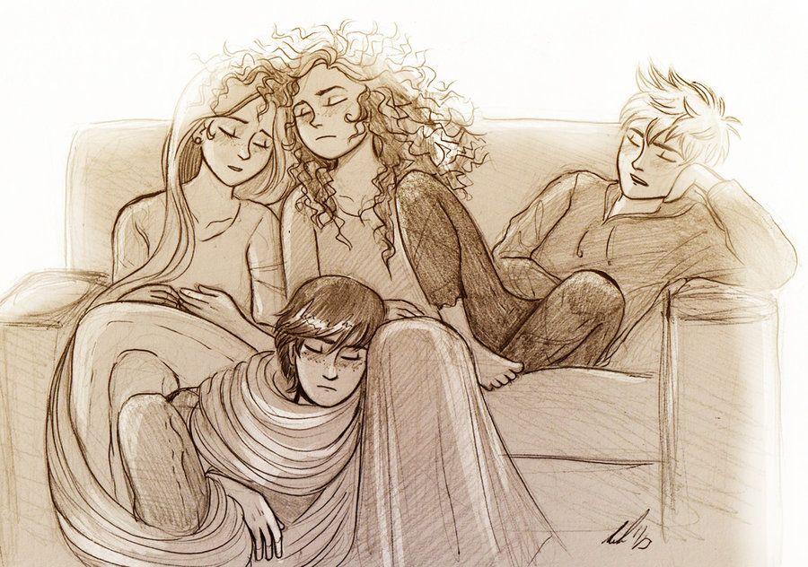 Rapunzel, Merida, Jack Frost, And Hiccup