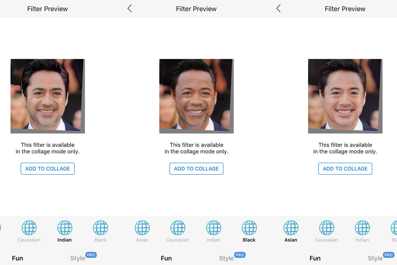 Popular faceaging app now offers 'Black,' 'Indian,' and