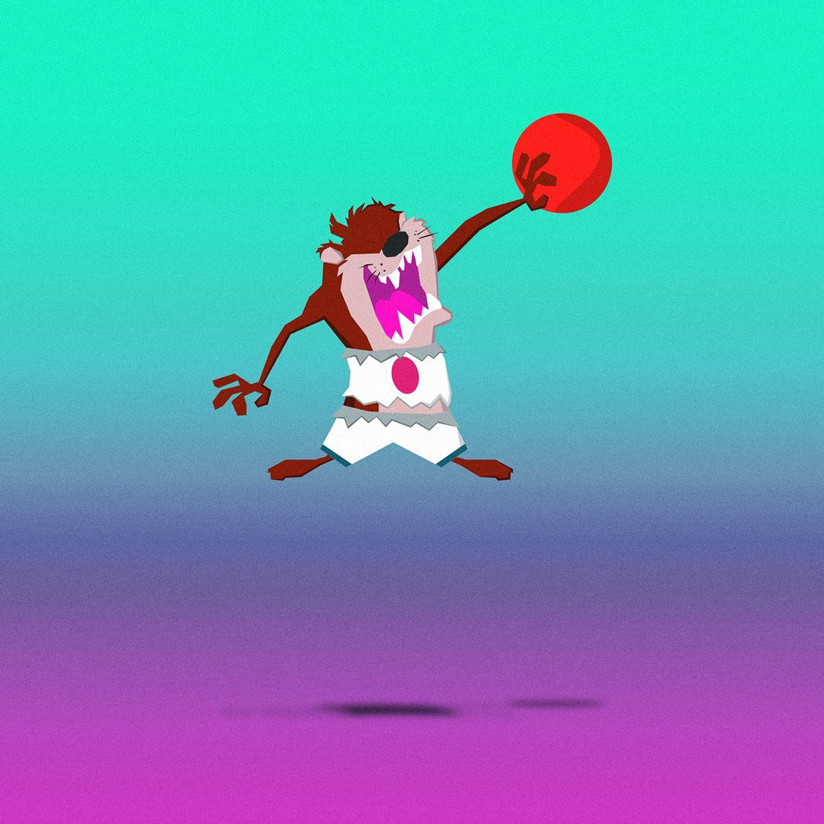 / Space Jam / on Behance #spacejam #michaeljordan #jumpman23 #jumpman #basketball #movies #cartoons #tasmaniandevil