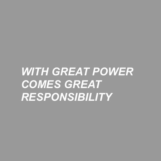 With Great Power Comes Great Responsibility Peter Parker Spider Verse Character Aesthetic