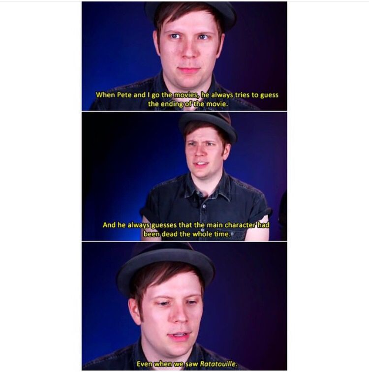 """Thanks Pete..<<he looks so sad in the last one, like """"pete why"""" XD<<<< he looks so disappointed"""