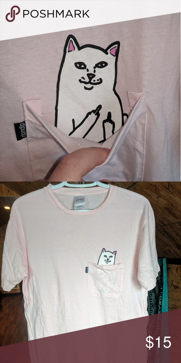 Cat Pocket T Shirt