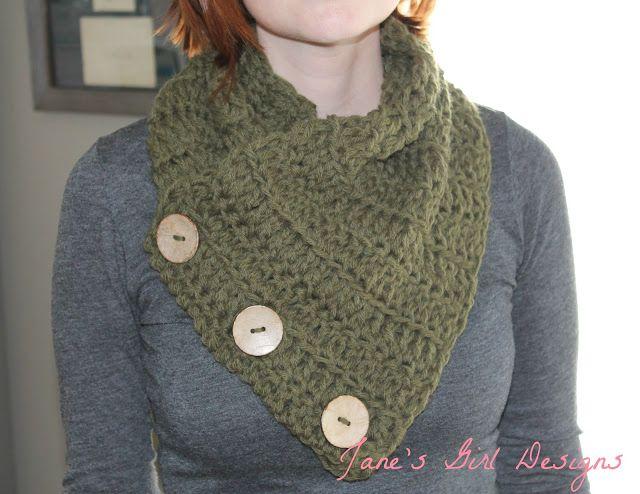 Gratis Patroon Colsjaal Met Knopen Haken Crochet Uncinetto