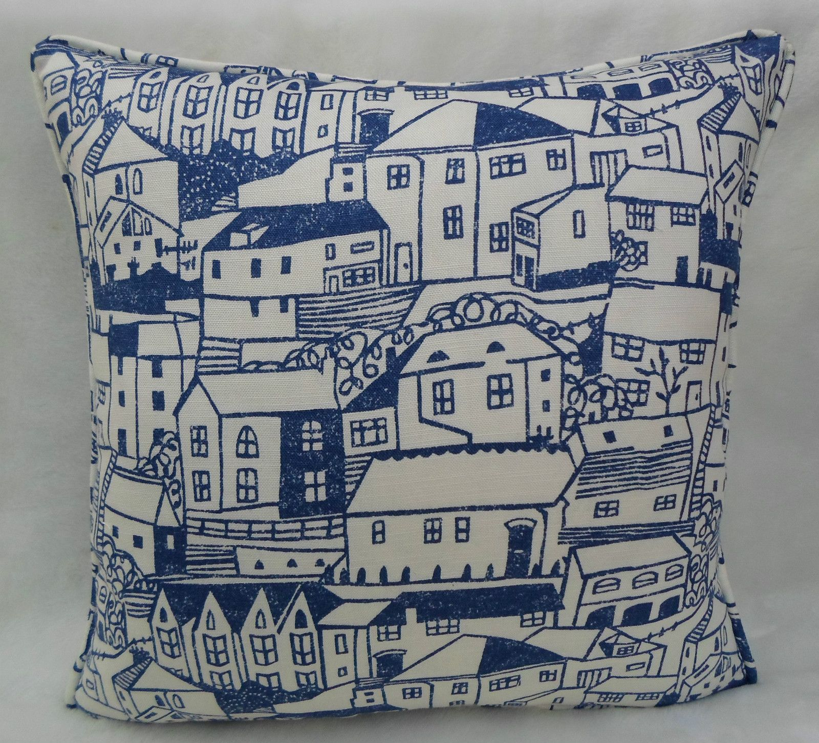 Sanderson Fabric St Ives Cushion Cover Indigo Colours for