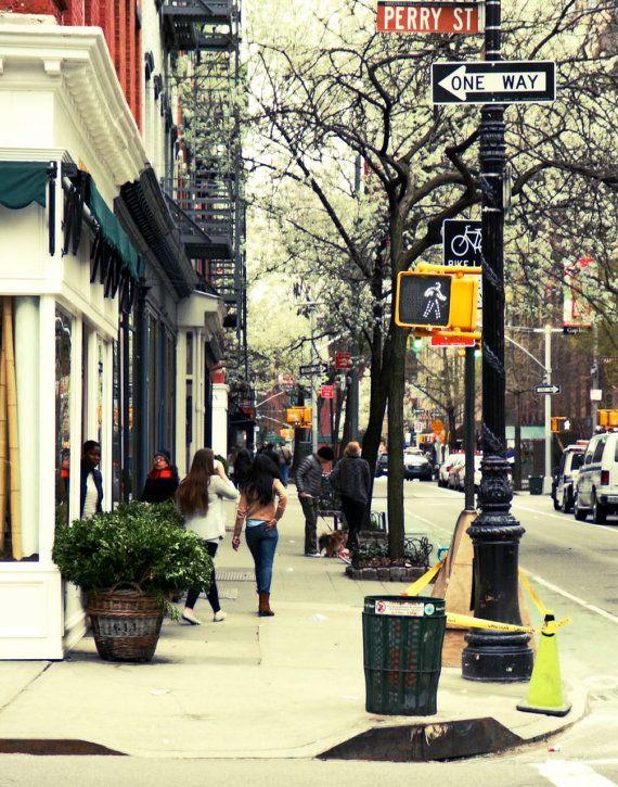 The Village, Manhattan, New York - Esse espaço do vaso com a planta é um espaço de transição entre o espaço do edifício e o espaço público. Ele é importante, por que muitas vezes os pedestres precisam parar para olhar uma vitrine, ou simplesmente para um pouco e olhar o movimento. É um espaço interessante e que tende a atrair as pessoas caso ele seja bem planejado. As pessoas se sentem mais confortáveis quando estão de costas para uma parede ou algum limite bem definido.