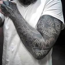 Afbeeldingsresultaat Voor White On Black Tattoo Black White Tattoos White Over Black Tattoo White Tattoo